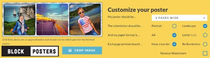 Segmenter une image pour imprimer sur plusieurs feuilles