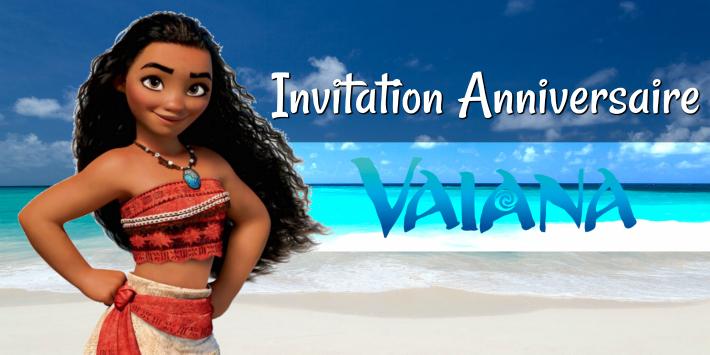 Faire une invitation anniversaire Vaiana ou Moana à imprimer
