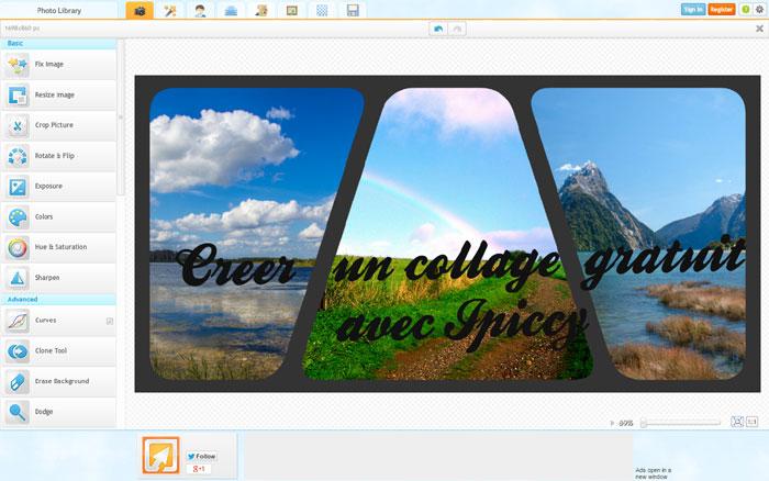 Créer un collage gratuitement