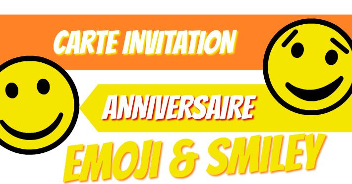 Créer une carte invitation anniversaire Emoji ou Smiley en ligne