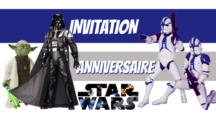 Invitation anniversaire Star Wars