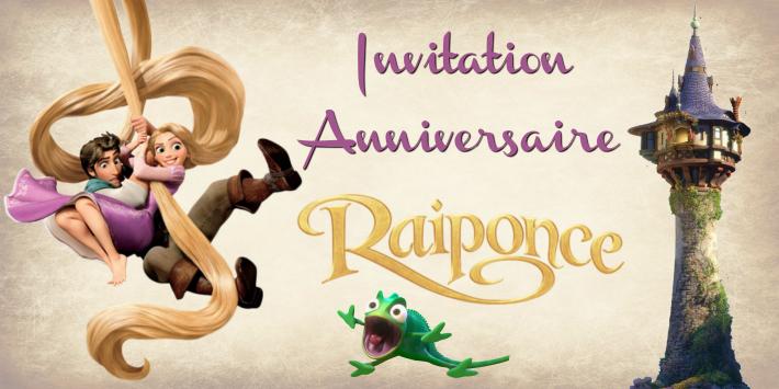 Modèle invitation anniversaire Princesse Raiponce