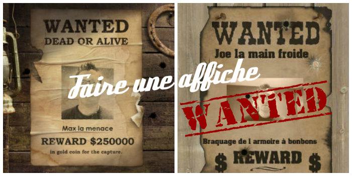 faire une affiche wanted  u00e0 imprimer gratuitement
