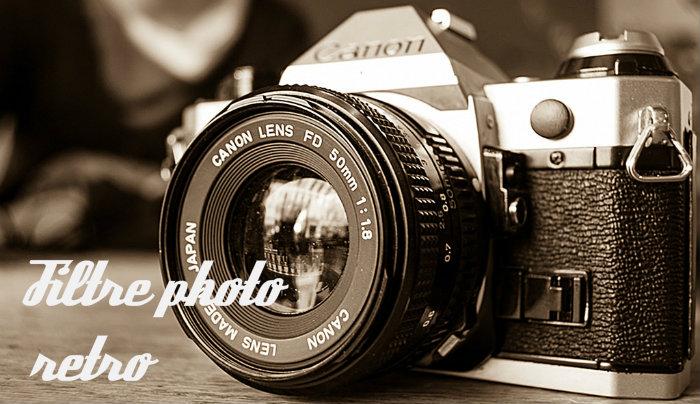 Filtre photo retro sepia