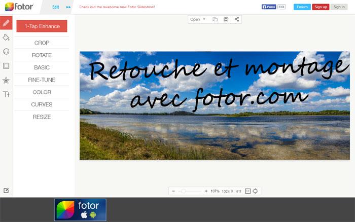 Montage photo facile avec Fotor