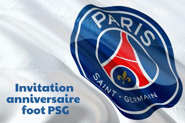 Invitation anniversaire PSG