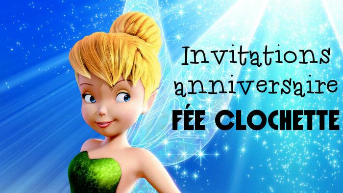 Invitation anniversaire Fée Clochette