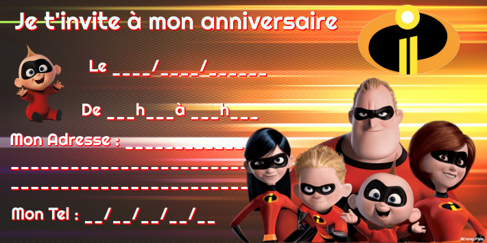 invitation anniversaire indestructibles 2