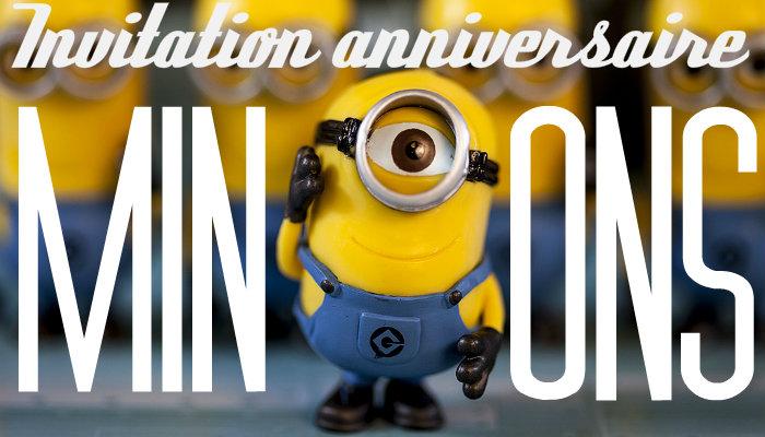 Invitation anniversaire minions