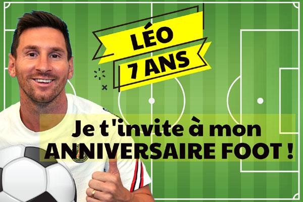 Invitation anniversaire Leo Messi