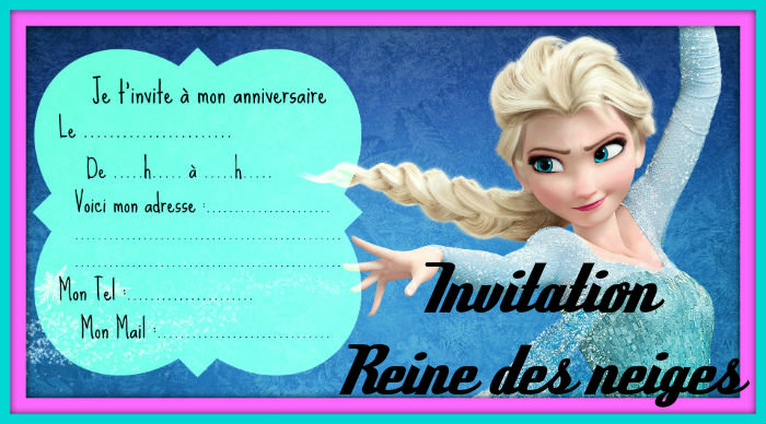 invitation anniversaire reine des neiges. Black Bedroom Furniture Sets. Home Design Ideas