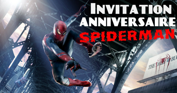 Invitation anniversaire spiderman