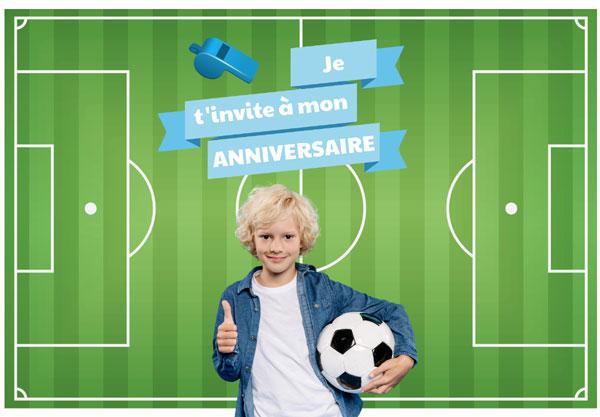 Invitation anniversaire Terrain de football