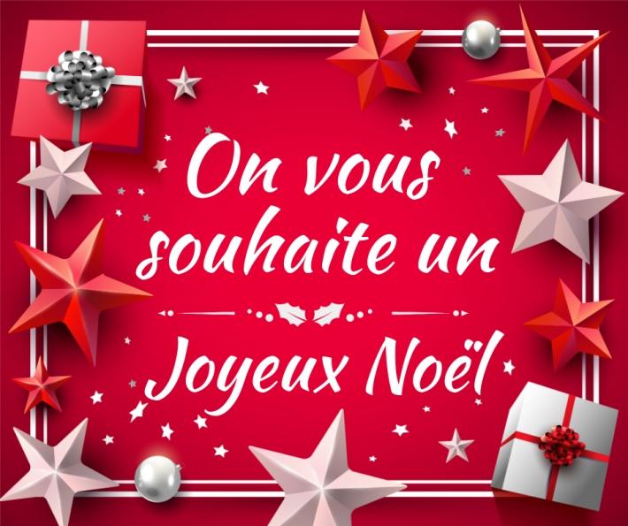 Carte On vous souhaite un joyeux Noël