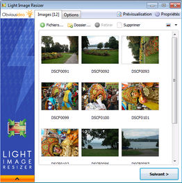 Interface de redimensionnement de photos