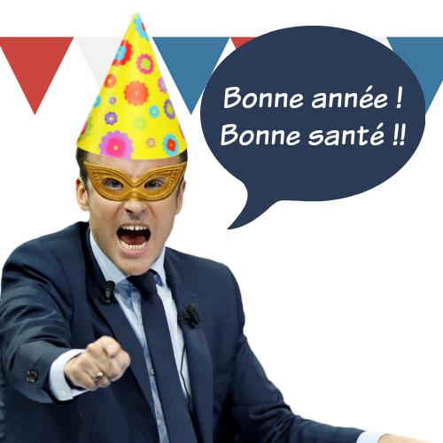 Montage Macron humoristique avec Pic Monkey