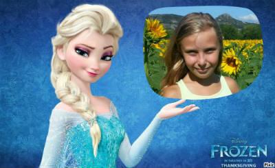 Montage Elsa et Anna de la Reine des neiges