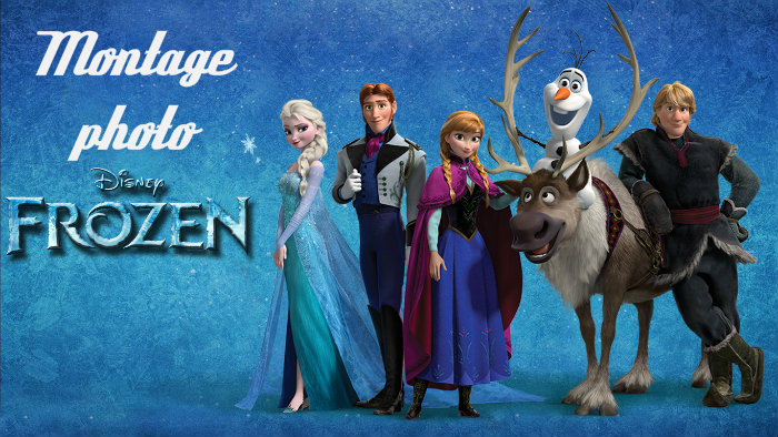 Montage photo Reine des neiges