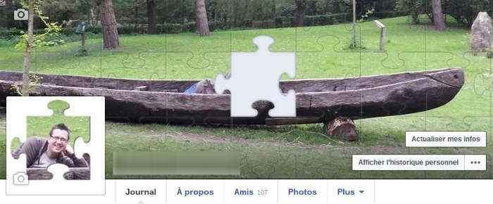 Montage photo Facebook Puzzle