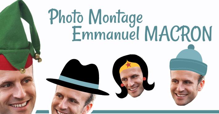 Faire un montage photo du président Emmanuel Macron
