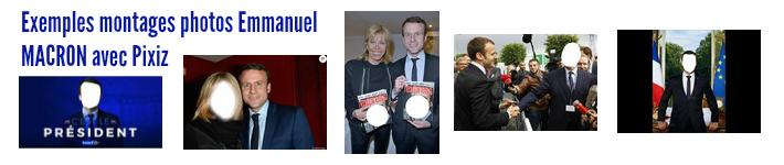 Montage photo Macron avec Pixiz