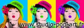 Montage photo studio Pop Art