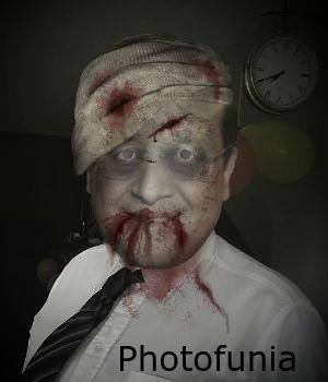 Effet zombie avec Photofunia