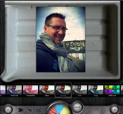 Interface logiciel effet photo