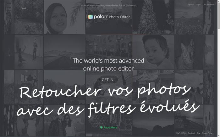 Polarr.co Retouche photo avec filtre