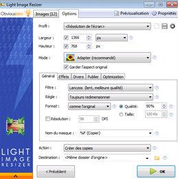 Renommer et convertir avec Light Image Resizer