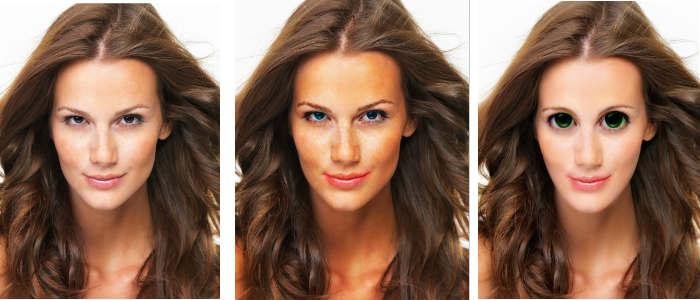 Retouche de maquillage sur visage