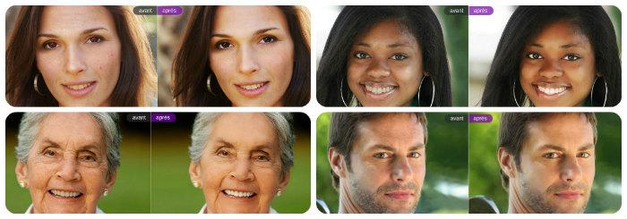 Exemples de retouche photo de visages