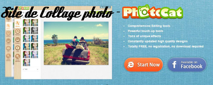 Site de collage photo - Photocat