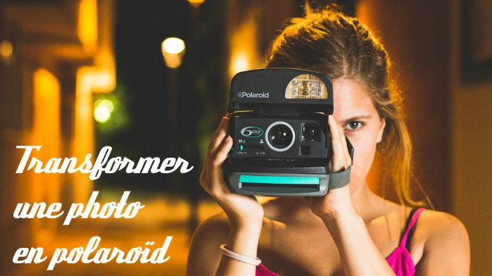 Transformer photo en polaroid
